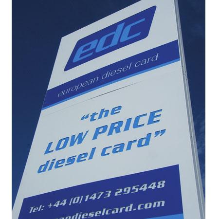 EDC Calais sign