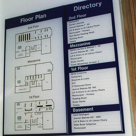 Floor plan sign