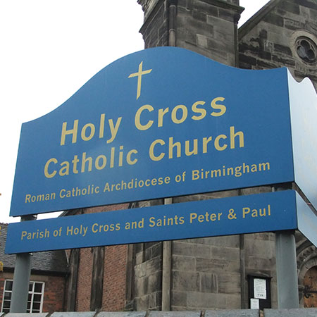 Holy Cross Church Sign