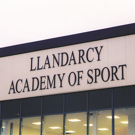 Llandarcy Academy of Sport sign