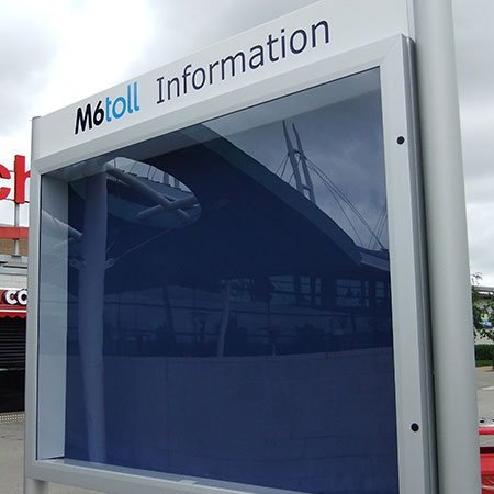 M6 Toll Digital Information Board