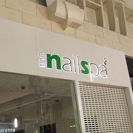 Nail spa illuminated sign