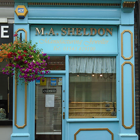 Embossed Shop Front Sign